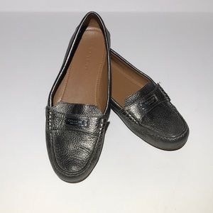 COACH Flats Loafers Driving Flats Leather Comfort